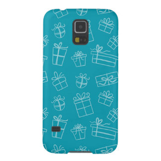 Blue Sketchy Gift Pattern Galaxy S5 Cover