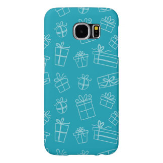Blue Sketchy Gift Pattern Samsung Galaxy S6 Case