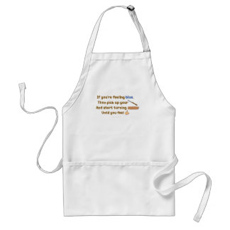 Blue Skew Woodturning Poem Adult Apron