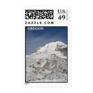 Blue ski season postage stamps