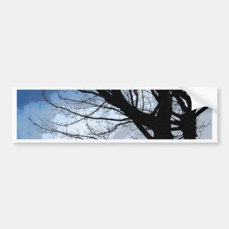 Blue Skies and Alder Tree Art Bumper Sticker