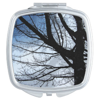 Blue Skies and Alder Tree Art Compact Mirror