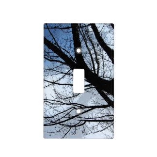 Blue Skies and Alder Tree Art Light Switch Cover