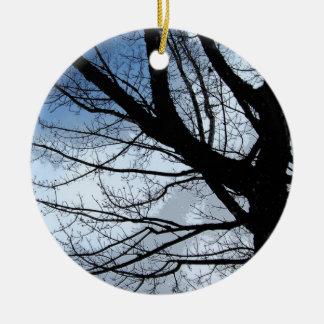 Blue Skies and Alder Tree Art Ornament