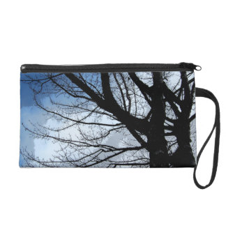 Blue Skies and Alder Tree Art Wristlet