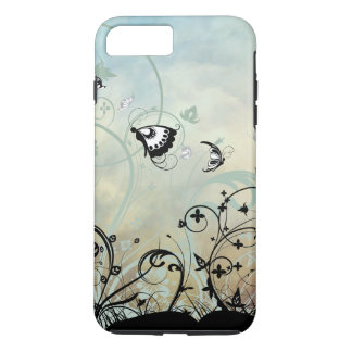 Blue Skies and Butterflies iPhone 7 Plus Case