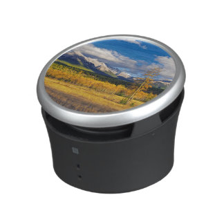 Blue skies and clouds above a meadow speaker