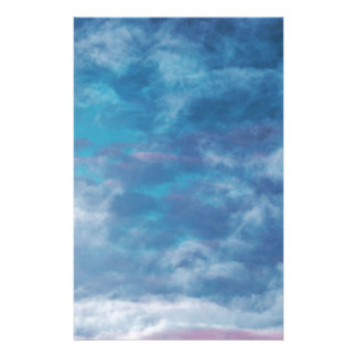 Blue Skies and Clouds Stationery