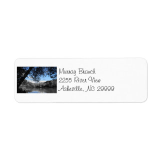 Blue Skies and Lakes Address Label