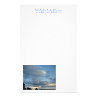 Blue Skies and Nice Clouds, Psalm 118:24 Stationery