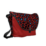 Blue Skies and red leopard print fashion design Courier Bag