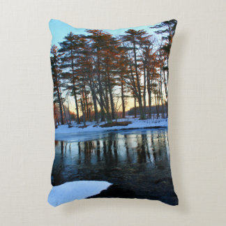 Blue Skies And Tall Trees Decorative Pillow