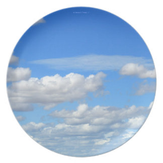 Blue Skies and White Clouds Dinner Plate 1