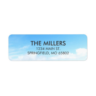 Blue Skies and White Clouds Return Address Labels