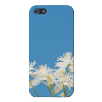 Blue skies and white flowers iPhone 4 case