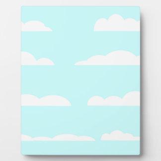 Blue Skies Background Plaque