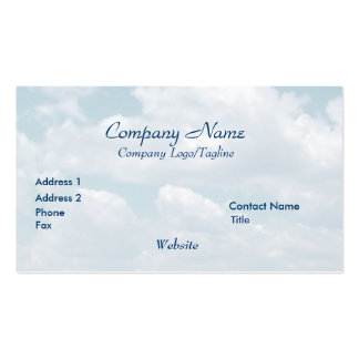 'Blue Skies'  Business Card