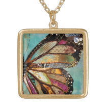 Blue Skies Butterfly Necklace