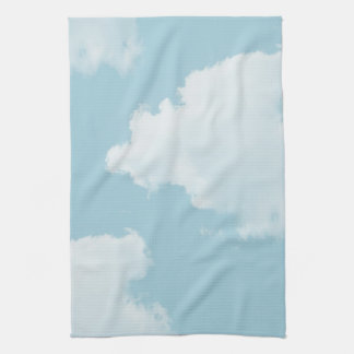 Blue Skies Clouds Kitchen Towel
