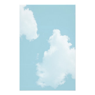 Blue Skies Clouds Stationery