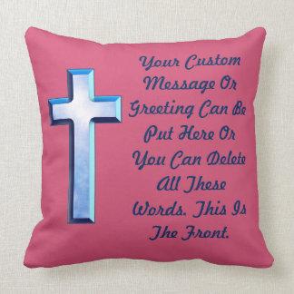 Blue Skies Cross Throw Pillow