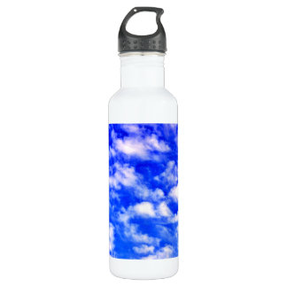 Blue Skies Customizable Water Bottle