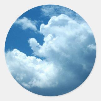 'Blue Skies'  Dark Blue Stickers