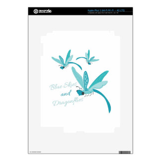 Blue Skies & Dragonflies Decal For iPad 3
