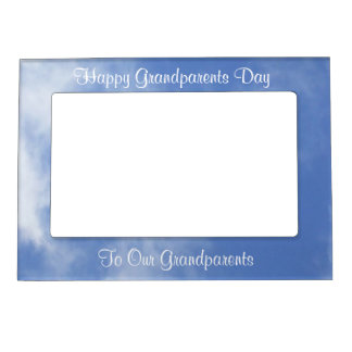 Blue Skies for Grandparents on Their Day Magnetic Picture Frame