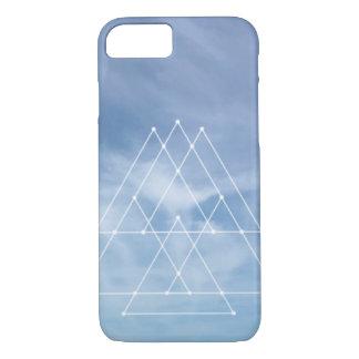 Blue skies geometric design iPhone 7 case cover