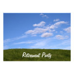 Blue Skies Green Grass Retirement Party Invitation