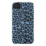 Blue Skies leopard print fashion design Case-Mate iPhone 4 Cases