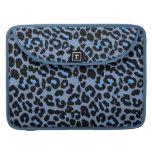 Blue Skies leopard print fashion design MacBook Pro Sleeves