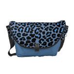 Blue Skies leopard print fashion design Courier Bags