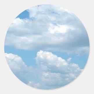 'Blue Skies'  Light Blue Stickers