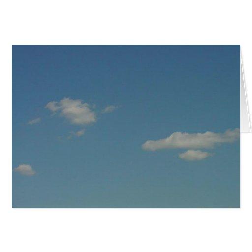 Blue Skies N' Cotton Balls Greeting Card