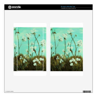 Blue Skies over Cotton Decals For Kindle Fire