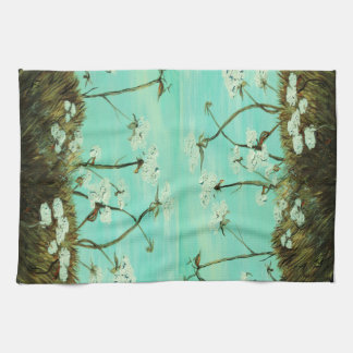 Blue Skies over Cotton Hand Towel