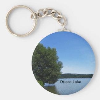 Blue Skies over Otisco Lake Keychain
