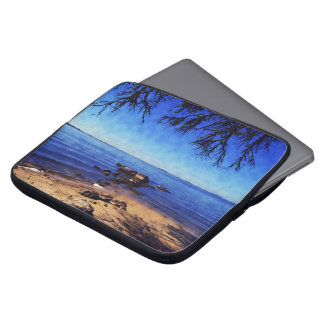 Blue Skies Over the Bay Laptop Sleeve