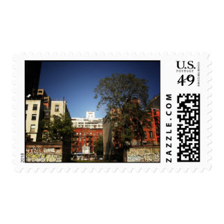 Blue Skies Over the East Village Stamp