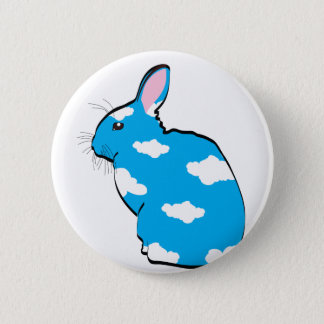 BLUE SKIES PINBACK BUTTON