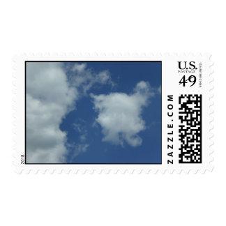 Blue skies postage stamps