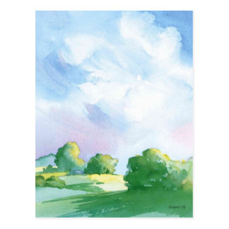 blue skies postcard