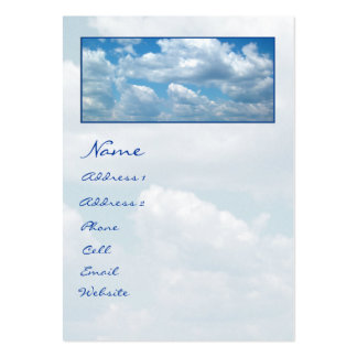'Blue Skies'  Profile Card Business Card Template