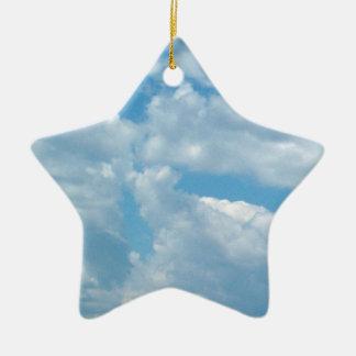 'Blue Skies'  Star Ornament