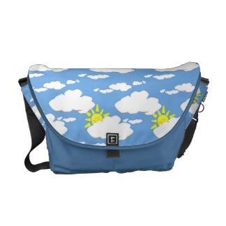 Blue Skies Sunshine Clouds Messenger Bag