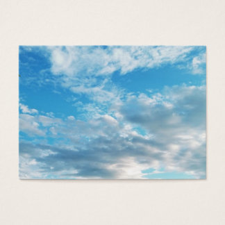 "Blue Skies Themed Chubby, 3.5"" x 2.5"", 100 pack Business Card"