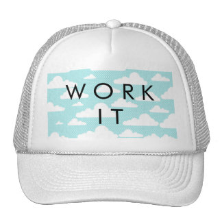 Blue Skies White Clouds Whimsical Sky Pattern Trucker Hat