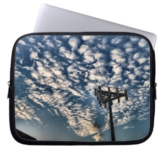 Blue Skies with Scattered Clouds - HDR Computer Sleeve